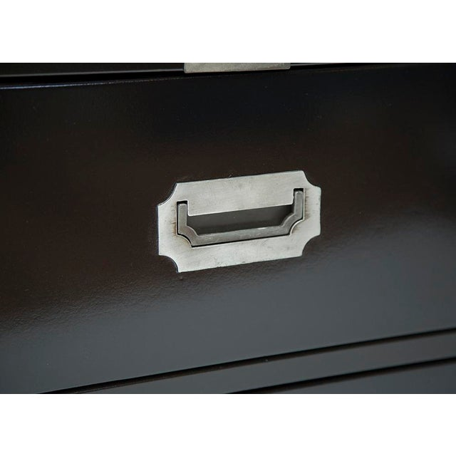 Black Lacquered Campaign Chest - Image 7 of 8