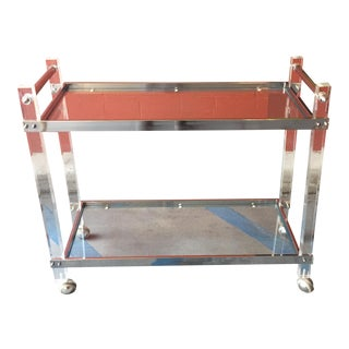 Lucite & Chrome Bar Cart