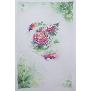 """Roses 2"" Original Watercolor by Celia Agnes"