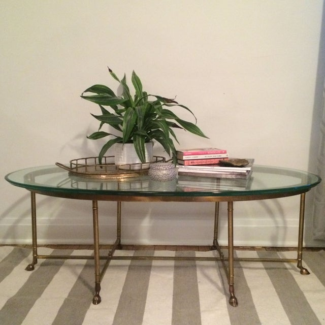 Image of La Barge Gilt Glass Coffee Table