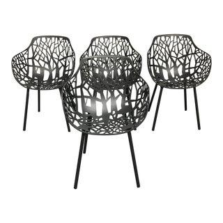 Janus Et Cie Metallic GreyForrest Dining Chair - Set of 4