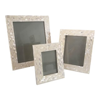 Modern Mother-Of-Pearl Frames - Set of 3