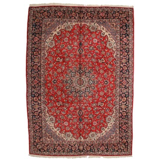 Vintage Hand Knotted Wool Persian Esfahan Rug - 11′9″ × 16′7″