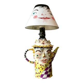 Irina Zaytceva Figural Two-Tiered Porcelain Teapot Table Lamp