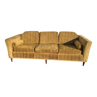 Kroehler Royale Mid-Century Gold Striped Sofa