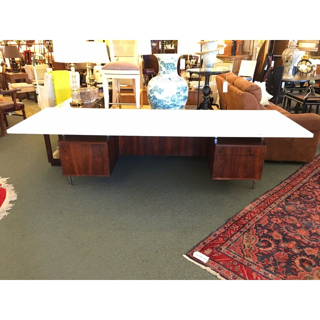 Mid-Century Executive Desk, Marble Top - Image 4 of 11