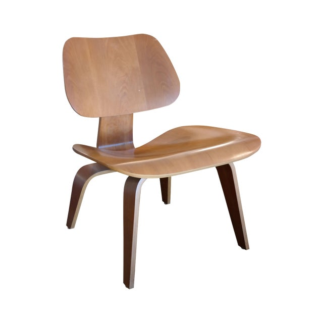 eames lcw plywood lounge chair chairish