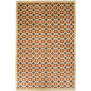 """New Contemporary Hand-Knotted Rug - 6' 8"""" x 9' 10"""""""