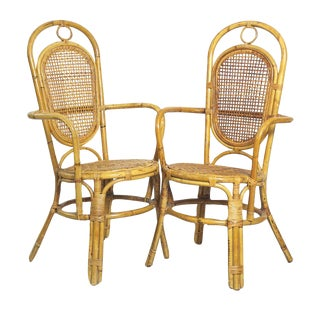 Hemingway Style Arm Chairs - A Pair