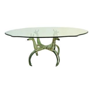 Vintage Alain Chervet Mid Century Solid Brass Modern Coffee Table