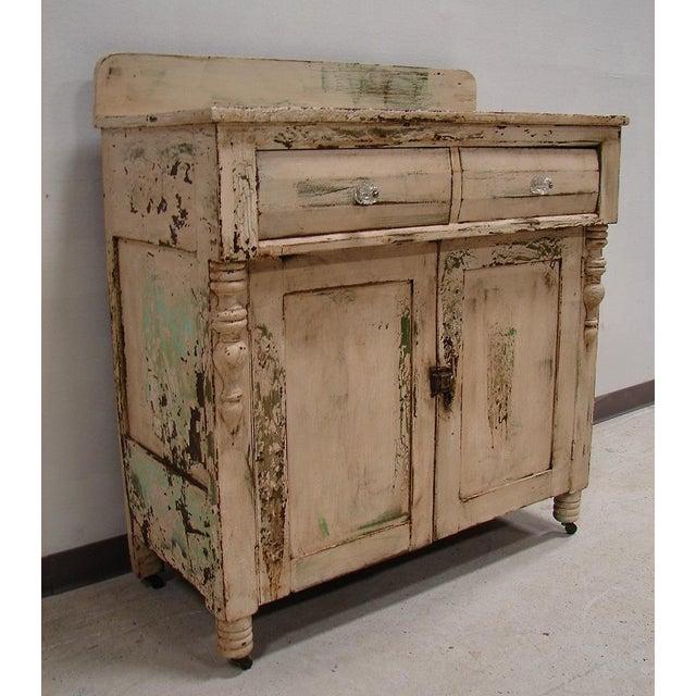 Primitive Painted Antique Dresser Chest Cupboard - Image 5 of 5