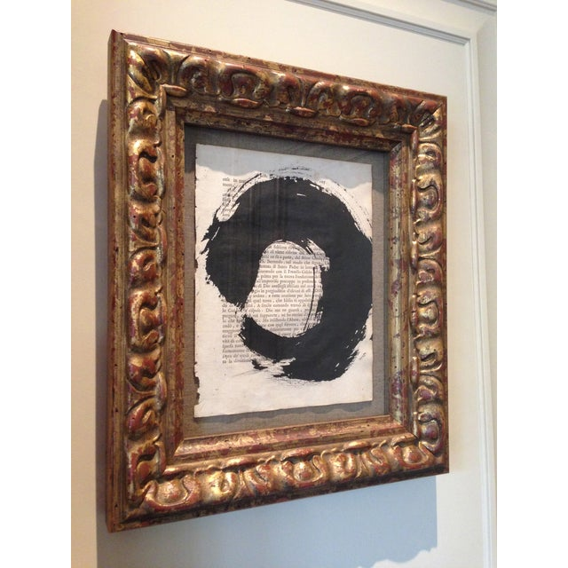 "Image of John Mayberry Painting in Custom Frame - ""Circle"""