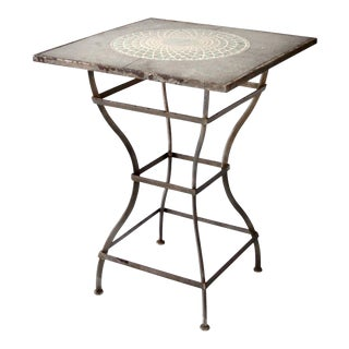 Vintage Mosaic Tall Patio Table