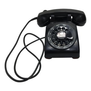 1955 Date Matched Black Rotary Dial Telephone