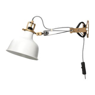 Industrial Style White & Gold Wall Mounted Lamp