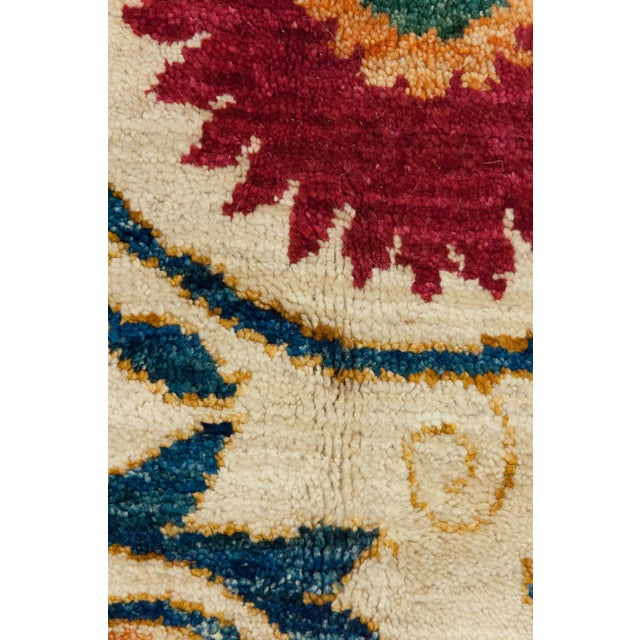 "Suzani Orange & Red Hand-Knotted Rug - 8'2"" X 10'5"" - Image 3 of 3"