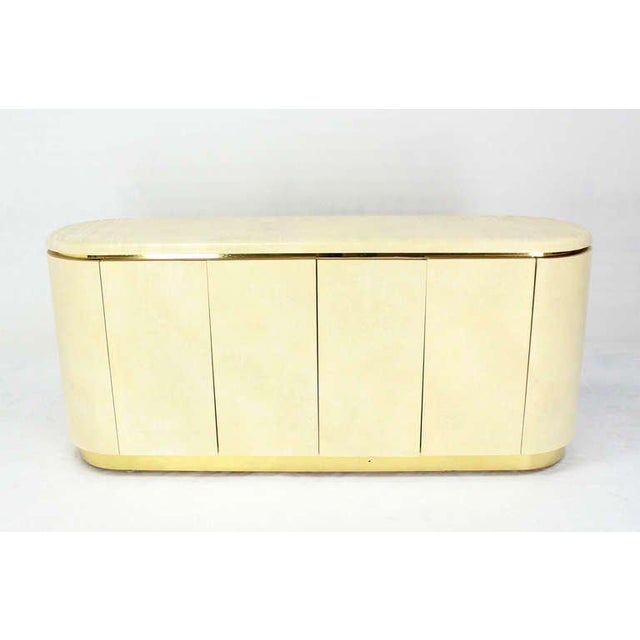 Mid-Century Modern, Drum Shape Long Credenza Server in the Springer Style - Image 3 of 7