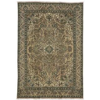 Vintage Persian Tabriz Rug - 6′6″ × 6′9″