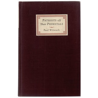 """1927 """"Patriots Off Their Pedestals"""""""