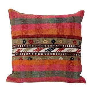 Turkish Handmade Wool Kilim Pillow Cover