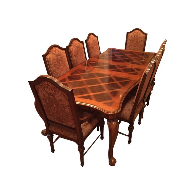 Formal Dining Room Set - Table with 8 Chairs - Image 1 of 9