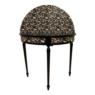 Demi-Lune Table With Lace Backdrop