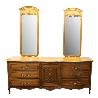 "Vintage Thomasville ""French Court"" Dresser With Mirrors"