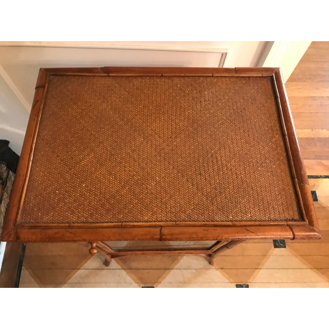 Wicker and Bamboo Maitland Smith Cabinet - Image 9 of 9