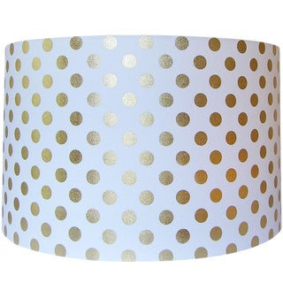 Gold Dot Fabric Drum Lamp Shade