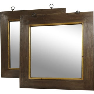 French Industrial Style Mirrors - A Pair