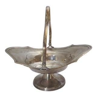 Silver-plate Basket Bowl