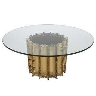 TOM GREENE BRUTALIST COFFEE TABLE, CIRCA 1970S