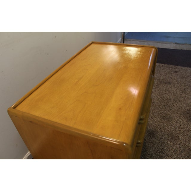Mid Century Modern Drop-Front Wheat Chest/Dresser - Image 7 of 9