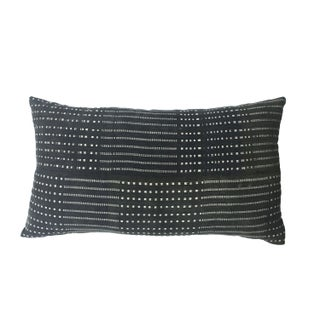 Gray and White Striped African Oversize Pillow
