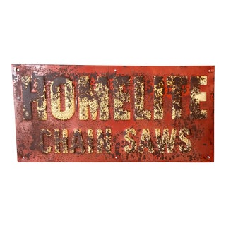 Vintage Chainsaw Advertising Sign