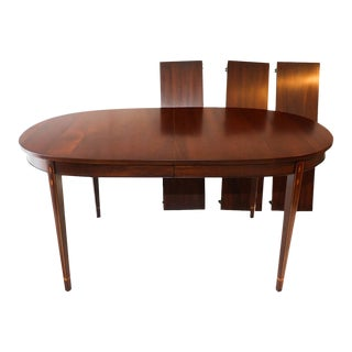 HENKEL HARRIS Inlaid Mahogany Oval Dining Table