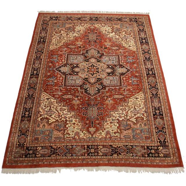 Rugsindallas Vintage Persian Design Wool Area Rug: Vintage Persian Heriz Design Wool Area Rug