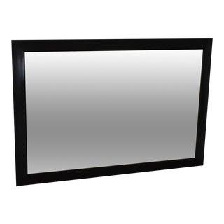 Black Ebonized Frame Milo Baughman Style Mid Century Wall Mirror