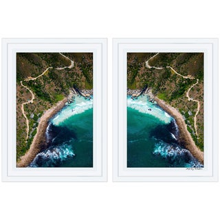 "Gray Malin ""Chapman's Peak"" Diptych Framed Signed Limited Edition Prints - a Pair"