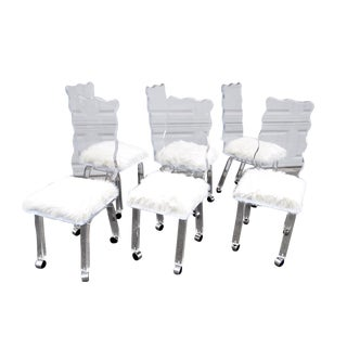 Mod Lucite Dining Chairs - Set of 6