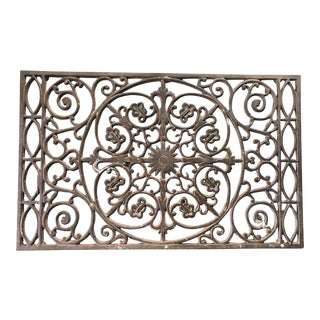Vintage Iron Grate / Wall Hanging