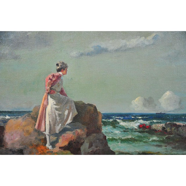 """Woman Looking at Sea,"" Painting by A. Neogrady - Image 3 of 9"