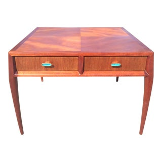 Ray Sabota Mount Airy for John Stuart Two Drawer Wooden End Table