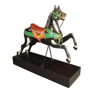 French Antique Carved & Painted Carousel Horse
