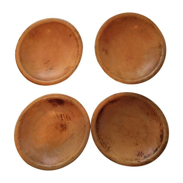 Primitive Wood Bowls - Set of 4 - Image 1 of 11
