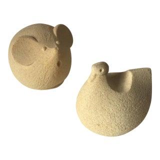 Mid-Century Stoneart Animal Sculptures - A Pair