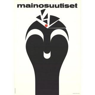 "Lasse Hietala ""Mainosuutiset"" Finnish Lithograph Poster"
