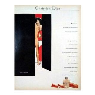 """René Gruau 1974 """"Eau Sauvage"""" Dior Print"""