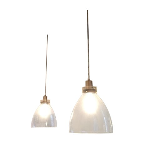 West Elm Plug In Ceiling Pendant Lights - A Pair - Image 1 of 3