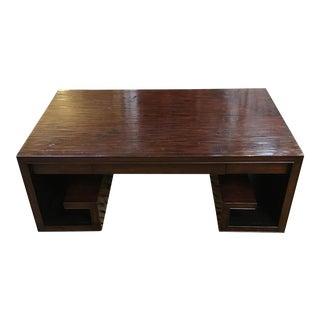 Henredon Asian Dark Finished Bamboo Coffee Table